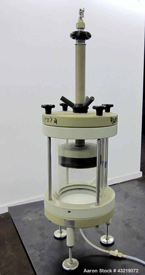 Used- Sepracor Plexiglass Column, Model 180 x 300. Approximate 180mm diameter x 300mm tall.