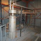 Used- Bubble Cap Tray Distillation Column. Stainless steel distillation column system. The system when last used had 5% alco...