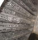 Used- Mitternight Boiler Works Packed Tray Column, 828 Volume Capacity, 304 Stainless Steel, Vertical. 36
