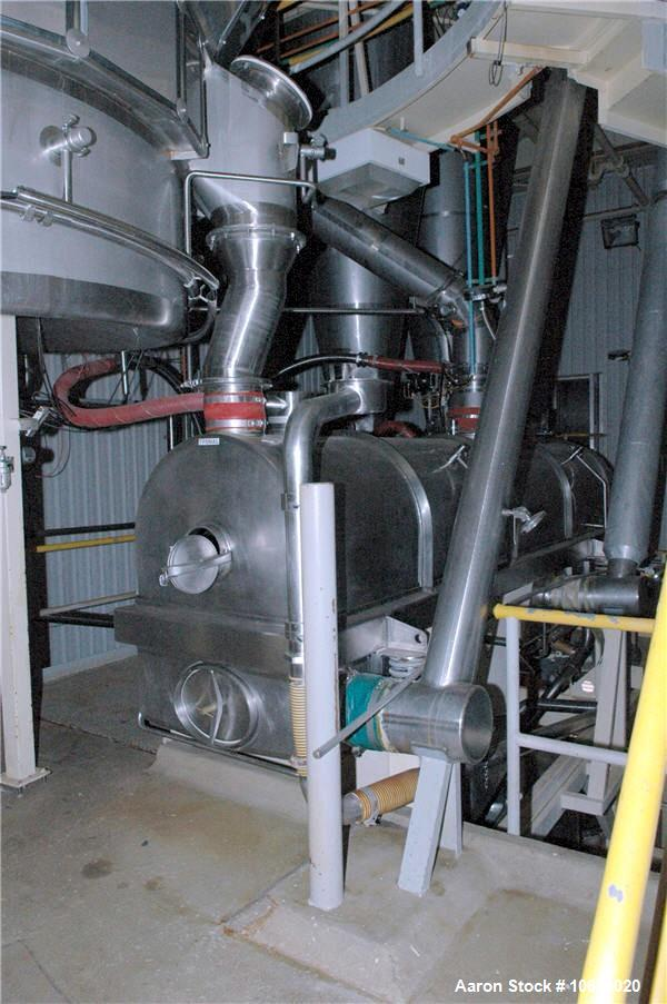 Used-Milk Drying Plant Consisting of Niro Spray Dryer and Evaporator.  Dryer model CDI250, capacity approximately 1000 kg/ho...