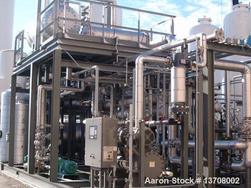 Used Hydrochem 1.4 MMSCFD Modular Hydrogen Gas Generating Plant. Product purity 99.999% product pressure 205 psig, natural g...