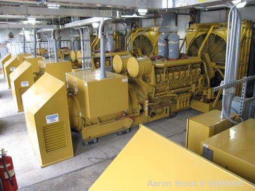Used-Caterpillar 8 MW / 13.8 kV Power Plant, diesel fueled, consisting of the following: (4) CAT 3516 gen sets. Used Caterpi...