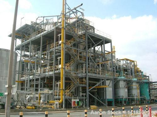 Used-GEA Niro Kestner Desalination Plant, titanium. Plant feed rate is approximately 982 cubic feet/h (27,800 liters/h), eva...