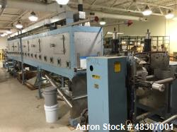 "Used- Lyons Pilot Coater/Laminator. 15"" max coating width, 6"" min. 30' oven, 304 SS, two zone, natural gas fired, 18"" wide i..."