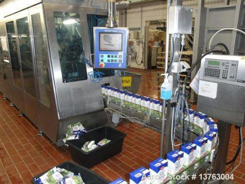 Used-Tetra Pak TBA 21 Slim with PT21 Pull-Tab System, aseptic carton filler. Capacity 7,000 units per hour, unit volume 33.8...