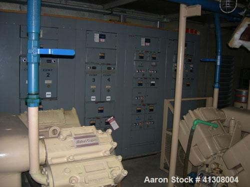 Used-Atlas Copco A.G.P. Compressor, reciprocating, type DR418 ARR, max work pres km/cm2 18, max speed 970 rpm.