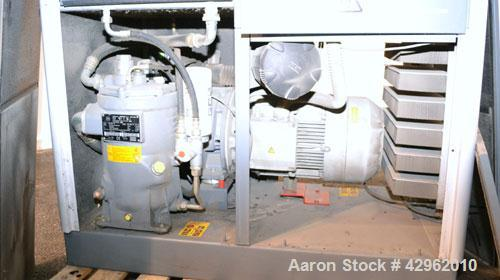 Used- Atlas Copco Oil-Injected Rotary Screw Compressor, Model GA22. Air cooled, rated 119.5 CFM at 131 psi. Driven by a 22kw...
