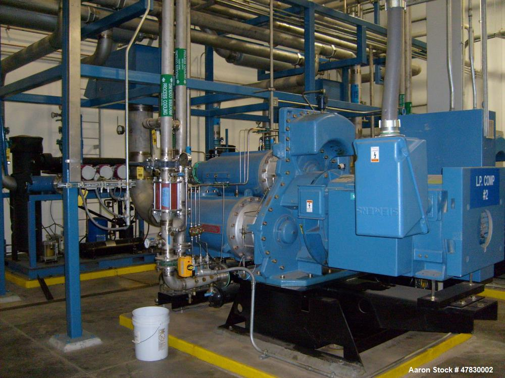 Used- Centac Compressor, Model C35020M3. 1921 ACFM, 14.1 PSIG intake, 95 degrees F, 150 PSIG discharge, 3575 RPM. Siemens in...