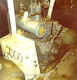 """Used- Gardner Denver 20 hp compressor, model LBC1008. 500 psig. Bore 4 7/8"""" and 2"""". Skidded. Belt driven by 20 hp, 1755 rpm ..."""