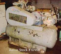 Used- Ingersoll-Rand 2 Stage, 3 Cylinder, Air Cooled Air Compressor, Type 30, Model 554E9, Size 5&5&4X4. 125 psi at 200 deg ...