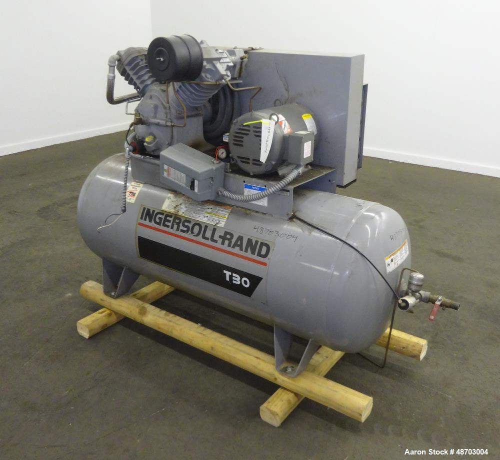 Ingersoll Rand T30 >> Used- Ingersoll Rand Air Compressor, Model T30. A