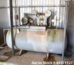 Used- Reciprocating Air Compressor. Driven by a 10hp, 3/60/230/460 volt, 1745 rpm motor. Mounted on an approximate 250 gallo...