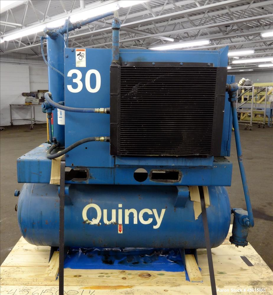 Used- Quincy Model QST Air Compressor, Serial #QSTGANA32L