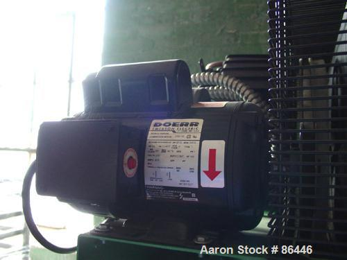 Used- Speedaire reciprocating tank mounted air compressor, model 3JR76. Approximate 14.9 acfm at 135 psig, 16.7 cfm at 90 ps...