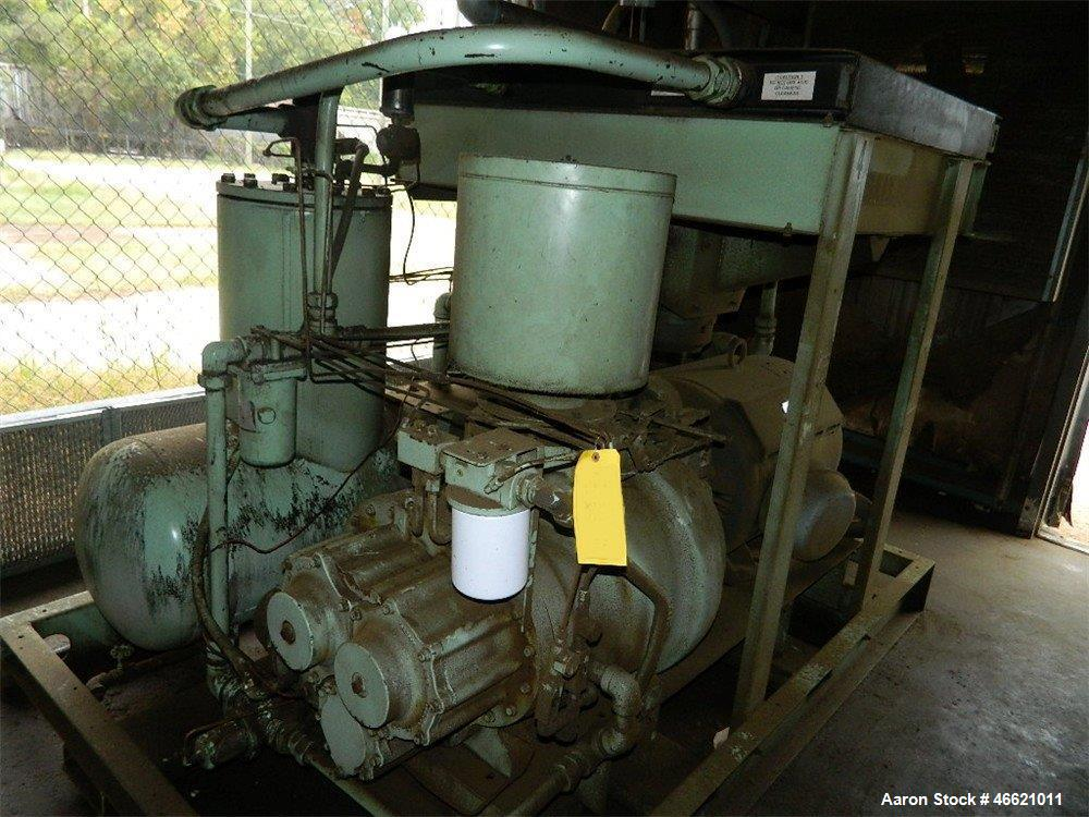 Used- Sullair Oil Filled Air Compressor, Model 25B-150HACAC24KT, 150hp, 125 psi, 650 cfm, air cooled, serial# 003-140155.