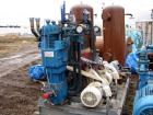 Used-Quincy Skid Mounted Compressor, model QDD-25A. Heavy duty, two stage, double acting, water cooled, oil free compression...