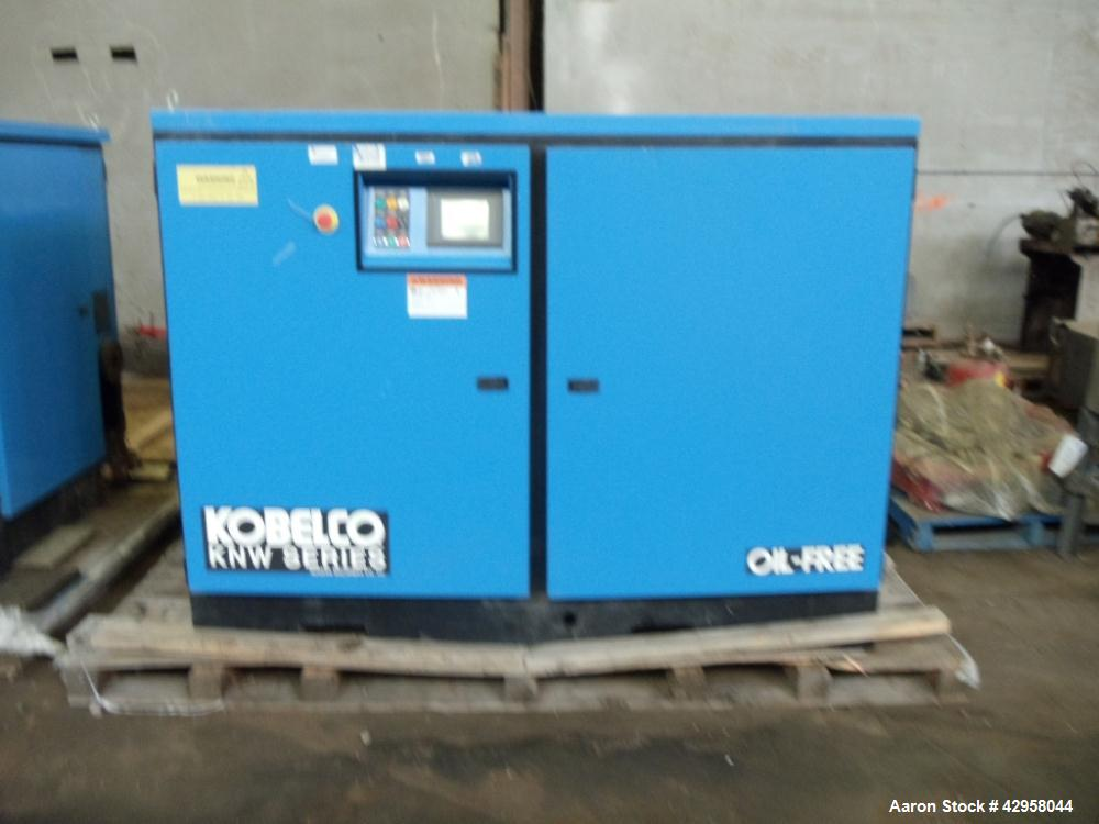 Used-Kobelco air compressor, KNW series, model KNW1-B/H/S, two stage, water cooled, 125 hp, 460 volt, 150 psig, 504 cfm with...