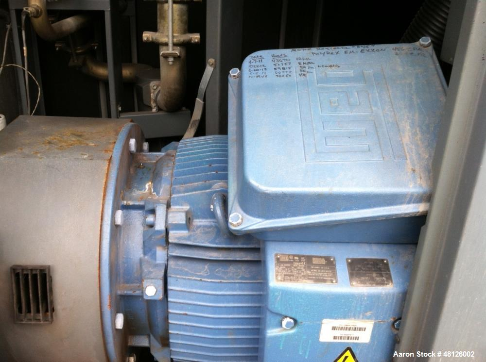 Used- Atlas Copco Air Compressor, Model GA160W. Water cooled, 200 hp , 480 volt. Touch screen control. Approximately 70,000 ...