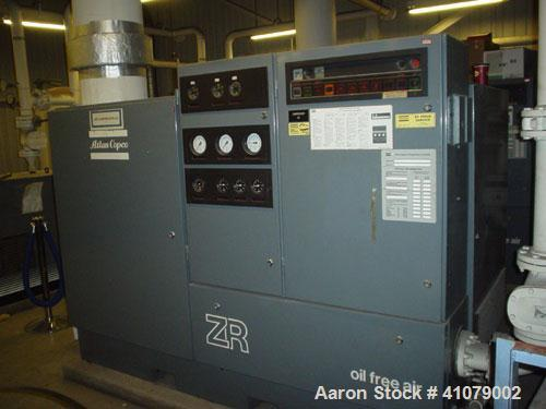 Used-Atlas Copco Compressor, Model ZRC3. Oil free/water cooled, 100 hp, final pressure bar 10.5, interstage pressure 2.2, fr...