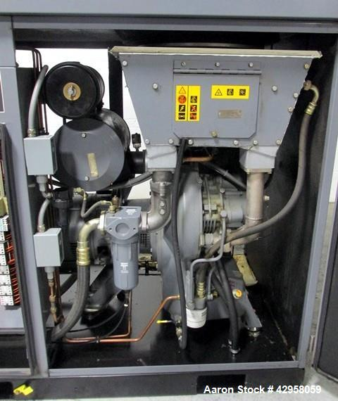Used- Atlas Copco Oil Free Air Compressor, Model ZT22. 30hp, 125 psi, 113 cfm with controls, 15865 hours, serial# AIF021152....