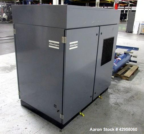 Used- Atlas Copco Oil Free Air Compressor, Model ZT22. 30hp, 125 psi, 113 cfm with controls, 21013 hours, serial# AIF021153 ...