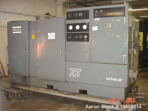 Used-Atlas Copco ZT3 oil free air compressor. Motor: GE 200 hp, 460 volts, 210 amps, rated for 623 SCFM.