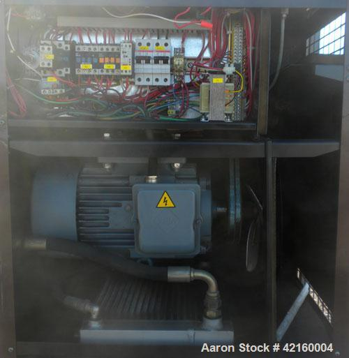 Used- Curtis-Toledo Single Stage Rotary Screw Compressor, Model RS10. Oil cooled, 38.5 CFM at 115 PSI at 4940 RPM. Driven by...