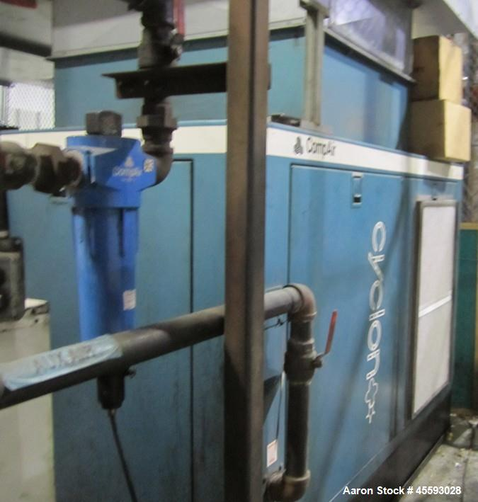 Used-Compair model Cyclone 6000 rotary screw air compressor, s/n 2370