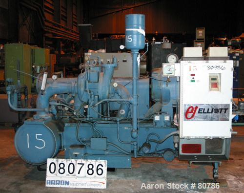 Used- Elliot Centrifugal Compressor, Model PAP180-DA-3
