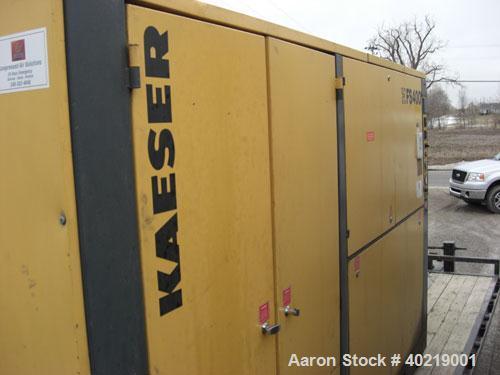 Unused-Used: Kaeser Air Compressor, Model FS 400, 300 hp, 1376 cfm, 125 psig, 460 volt, 3 phase, 60 hz, 361.7 FLA, manufactu...