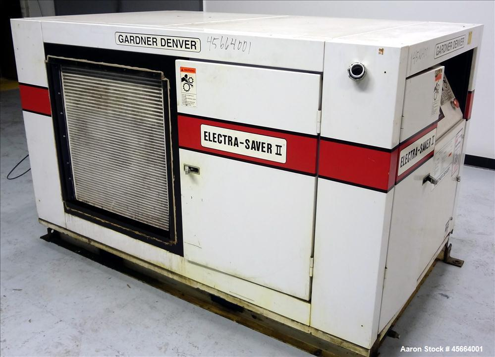 Used- Gardner Denver Electra-Saver II Air Compressor, Model EBHQJC.