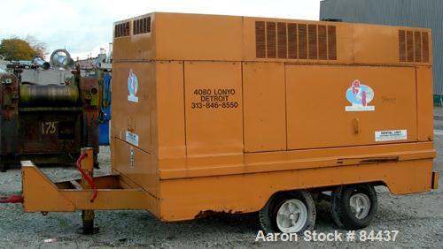 USED: Gardner Denver portable diesel air compressor, approximate 8000 cfm. 70 gallon fuel tank, tandem axle trailer with pin...