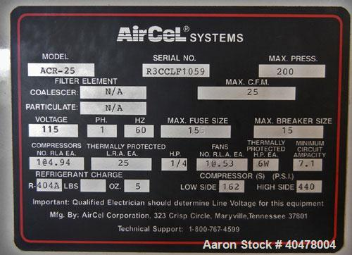 Used- Hydrovene AirCentre Air Compressor, model HV07. Approximately 44 cfm at 7 bar, max 145 psi. Driven by a 10 hp motor. I...