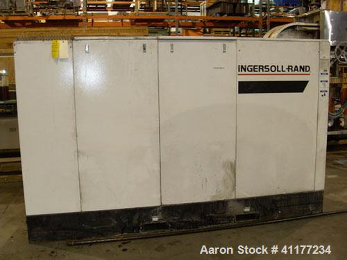 Used- Ingersoll-Rand Rotary Screw Air Compressor, Model SSR-EP200. Size 200 HP. Capacity 892 CFM, single stage unit. Rated o...