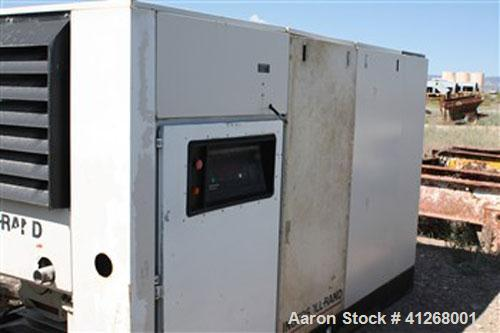 Used-Ingersoll-Rand Air Compressor. Air cooled, model SSR-EP200, capacity 892 cfm, operating pressure 125 psi, max discharge...