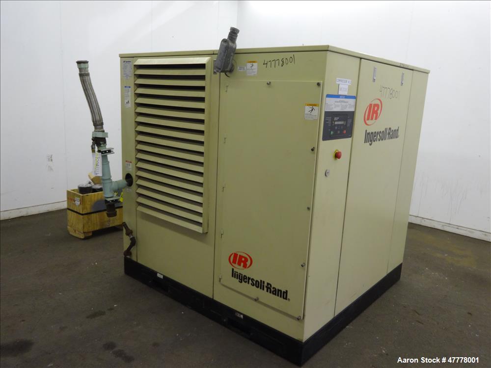 Used- Ingersoll-Rand Rotary Screw Air Compressor, Model SSR-HP75.