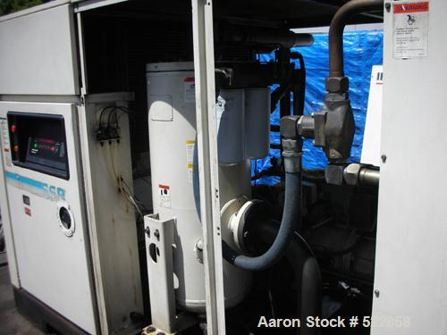 USED: Ingersoll-Rand air compressor, model SSRXF125, rotary screw, 125 hp, skid mounted.