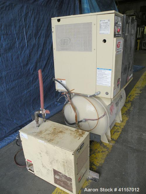 Used- Ingersoll-Rand Single Stage Rotary Screw Compressor, Model UP6-10-150. 34 cfm at 150 psi. Air cooled. Driven by a 10 h...