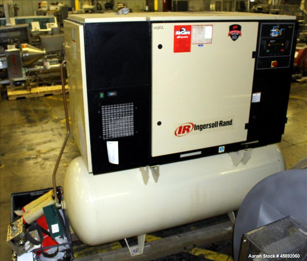 Used- Ingersoll-Rand Air Cooled Rotary Screw Air Compressor, Model UP6 30-150. Capacity 112 cfm, rated operating pressure 15...