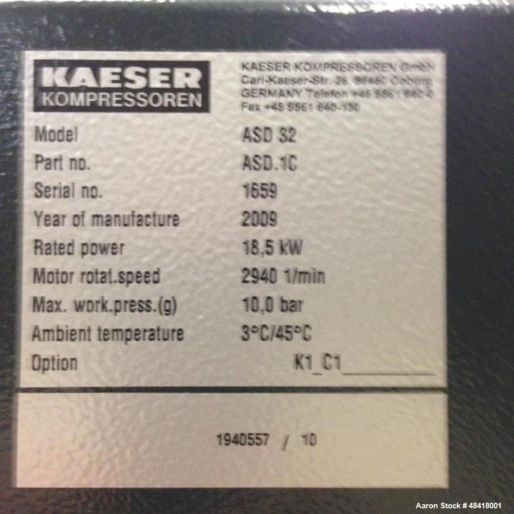Used- Kaeser Screw Compressor, Model ASD 32. 18,5 KW