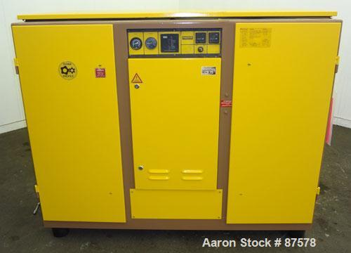 Used- Kaeser Stationary Rotary Screw Compressor, Model CS75. Air cooled. Capacity approximately 282 cfm at 110 psi. Driven b...