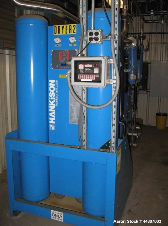 Used- Kobelco KNW Series Two Stage Oil Free Rotary Screw Compressor, Model KNW A0-B/H. Air cooled. Rated approximately 223 c...