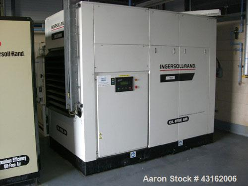 Used- Ingersoll Rand Type Sierra SM90W rotary screw oil free air compressor. Unit rated 13.6 cu mt/hr with discharge pressur...