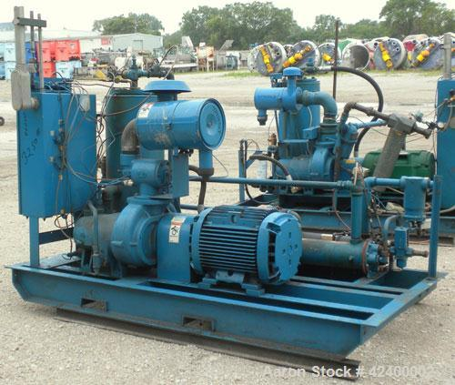 Used- Quincy Helical Screw Air Compressor, Model QSI235WNW2, Water Cooled. Capacity 234 cfm at 110 psi. Driven by a 50 hp, 3...