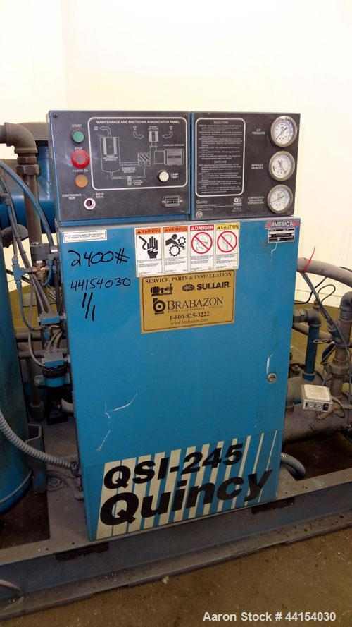 Used Quincy Qsi 245 Water Cooled Rotary Screw C