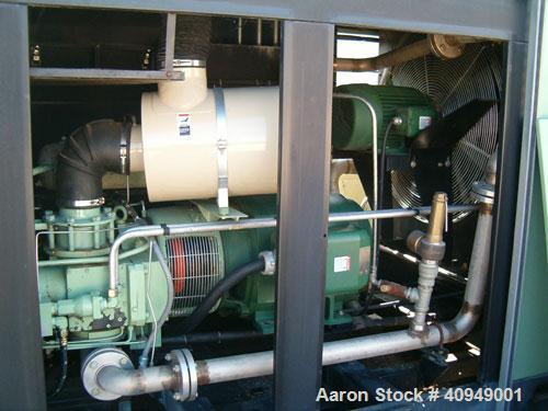 Used-Sullair Compressor, 200 hp, 125 psi, 800 cfm, air cooled.