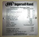 Used- Ingersoll-Rand Oil-Free Air Compressor, Model SIERRA-H200A.
