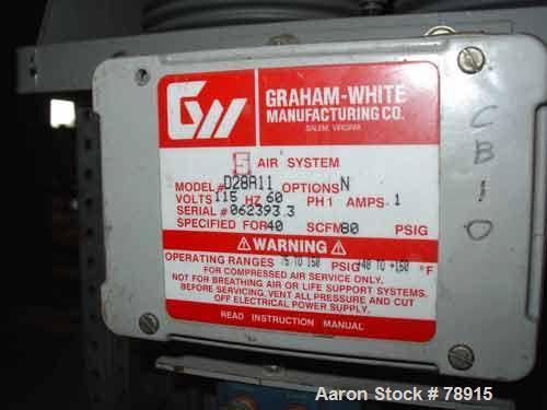"Used- Graham-White Manufacturing Company ""Five-In-One"" Air System, Model D28A11. Operating pressure 75 psig to 150 psig. Sta..."