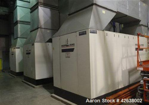 Used- Ingersoll-Rand air compressor, model SSR-EPE300-2S, 300 hp, air cooled, manufactured 1994.