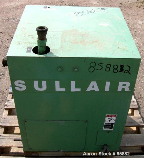 "Used- Sullair Refrigerated Air Dryer, Model PDC-100AS. Rated 100 CFM at 100/125 PSI. Approximate 24 Oz charge of R12. 1-1/2""..."